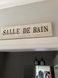 Wooden French bathroom sign 22x6 (made in Canada) Chilliwack, V2R 0S2