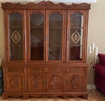 Antique Wood Display Cabinet MUST GO ASAP