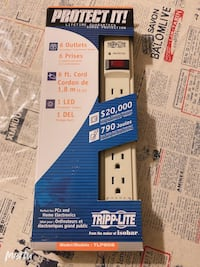 New tripp lite 6ft long 6 outlet cord