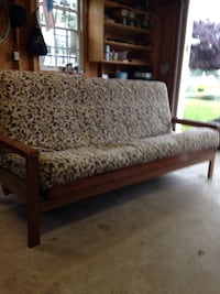 Futon bed. Really good shape just in time for college. Smoke free environment as far as I know Olney, 20832