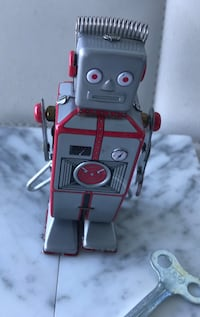 gray and red robot toy Miami Beach, 33141