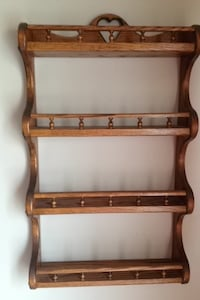 brown wooden floating shelf Youngstown, 44515