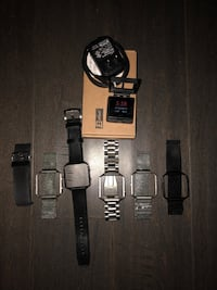 black and gray digital watch with link bracelet Frederick, 21704
