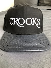 Crooks and Castle Leather baseball cap / great condition  New Rochelle, 10801