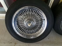 chrome multi-spoke vehicle wheel and tire Las Vegas, 89109