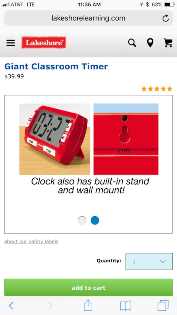 Used Lakeshore Giant Classroom Timer For Sale In Glendale Letgo