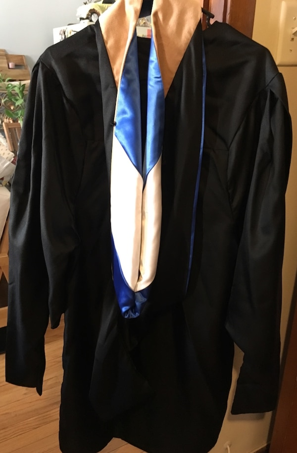 Used Masters graduation gown and hood for sale in Wheaton - letgo