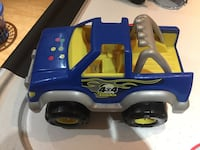 blue and yellow pick up truck toy Ajax, L1T 3C8