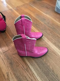 REAL GIRLS PINK COWBOY BOOTS!!! Size 1.5