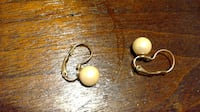 Single Pearl Earrings ELLICOTTCITY