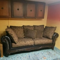 brown blk leather fabric 3-seat sofa & love seat Dayton, 45458