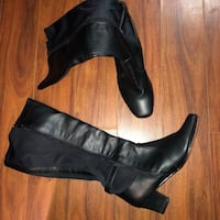 black leather side zip boots Mississauga