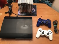 Sony PS3 super slim console with two controllers