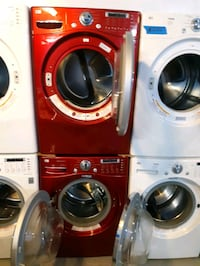 LG FRONT LOAD WASHER AND DRYER SET WORKING PERFECTLY