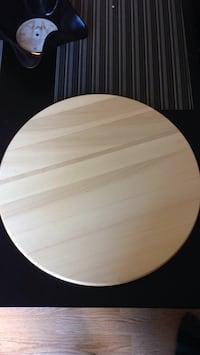 Round brown wooden table top New Westminster, V3L 5L7