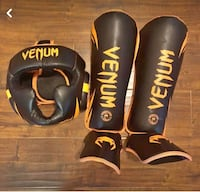 Venum Sparring head gear and shin guards. Only used 3 times Sacramento, 95834