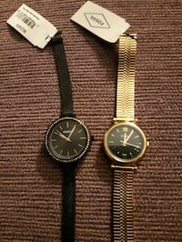 Pair fossil women's watches