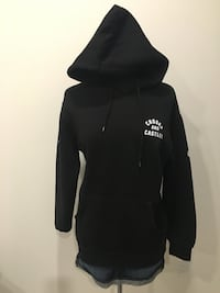 New crooks and castles black hoodie size L