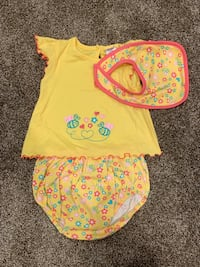 Baby girl 6-9 month 3 piece set