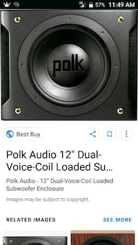 black Polk audio subwoofer screenshot Fairfield, 45014