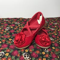 Toddler Red Flats Size 5