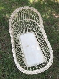 Antique Large White Wicker Bassinet Kannapolis, 28081