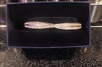 Swarovski Diamond crossover Bangle Bracelet in Sterling Silver Port Richey, 34668