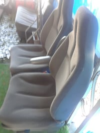 pair of black leather car seat OROVILLE