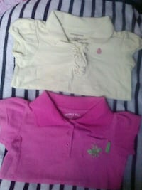 2shirts size 4T, m 5/6 pink and yellow South Gate