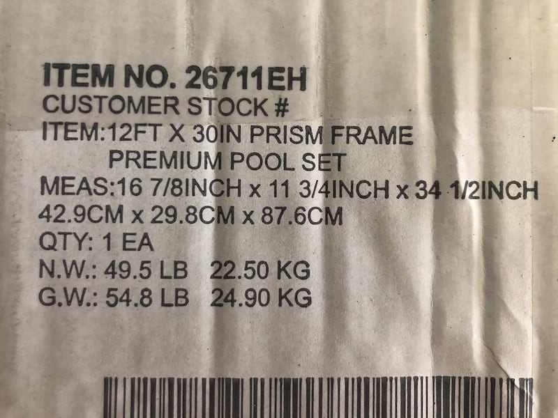 Intex 12ft x 30in Prism Metal Frame Above Ground Swimming Pool w/ Pump f91c7791-b704-4fab-ae43-32619c7a89a4