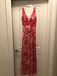 Beaded silk gown