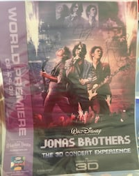 Joana's brothers signed premiere movie poster all 3 of them new rare Las Vegas, 89144