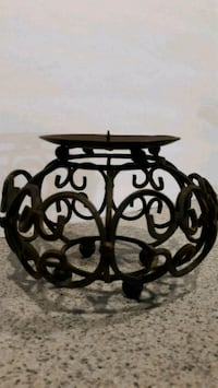 Heavy fancy wrought iron candle holder Georgetown, 47122