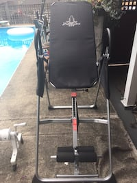 Black and gray inversion table. In very good shape..used maybe 10 times Coquitlam, V3K 3J2