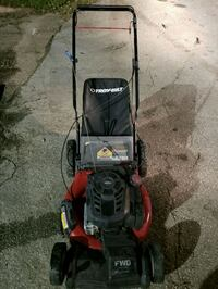 red and black push mower 1201 mi