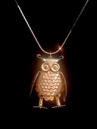 Owl and necklace faux gold  Surrey, V4N 0L4