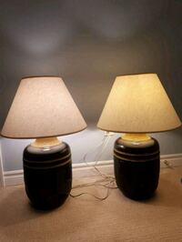 two black-and-gold table lamps Kitchener, N2P 2T8