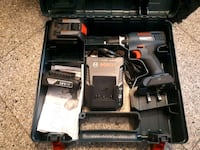 black and red Milwaukee cordless hand drill with case Vancouver, V5M