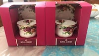 2 Royal Albert Old County Roses Teacups and Saucers Montréal, H1S 2K4