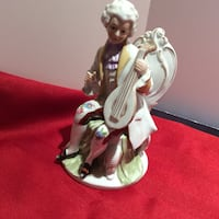 Hand Painted Porcelain EUROPEAN LUTE PLAYER figurine Brampton, L7A 3M5