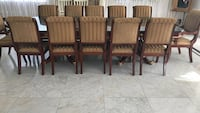 Four brown wooden armless chairs Los Angeles, 90049