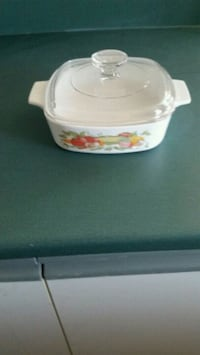 white and pink floral ceramic casserole Longueuil, J4K 2W6