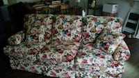 white and red floral 3-seat sofa Wilmington, 28411