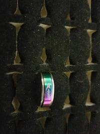 Size 7 stainless steel rings
