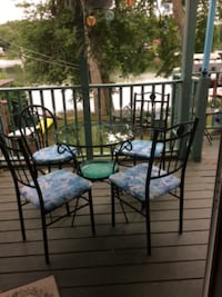 Glass top patio table Spencer