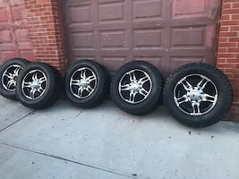 All terrain tires and rims