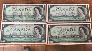 VINTAGE CANADIAN CURRENCY IN BILL AND COIN FORM