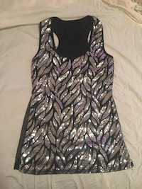 Small black/ silver sequin top Erie, 16508