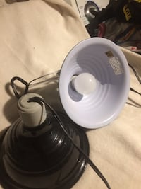 Lamps one has a clip so you can clip it on and have light anywhere needed takes regular lights Ottawa, K1V