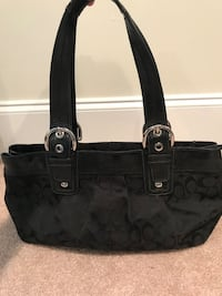 Black monogram coach tote bag Belle Chasse, 70037